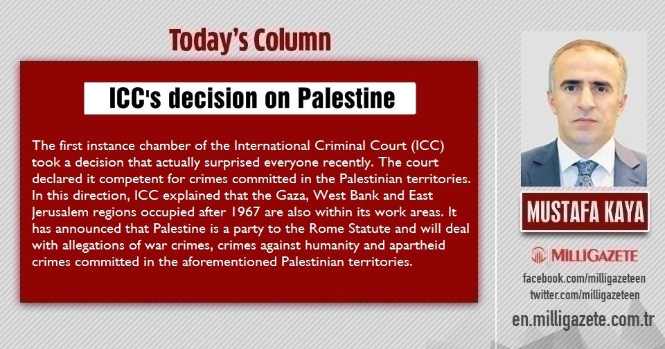 """Mustafa Kaya: """"ICCs decision on Palestine"""""""