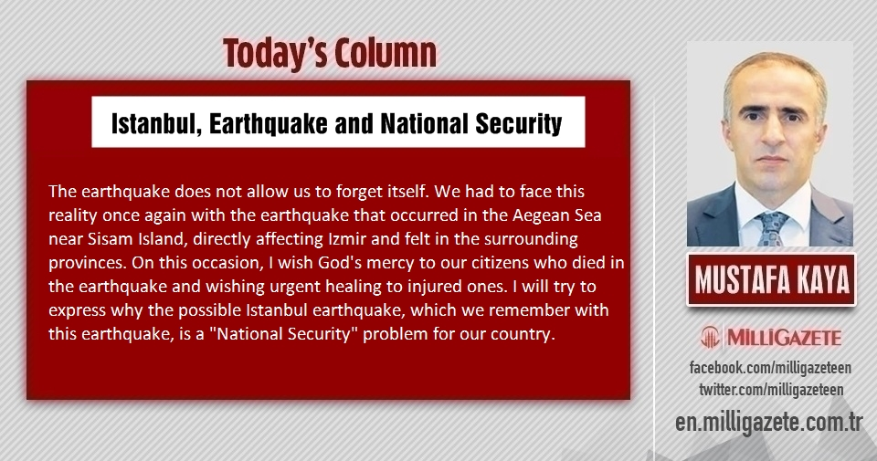 "Mustafa Kaya: ""Istanbul, Earthquake and National Security"""