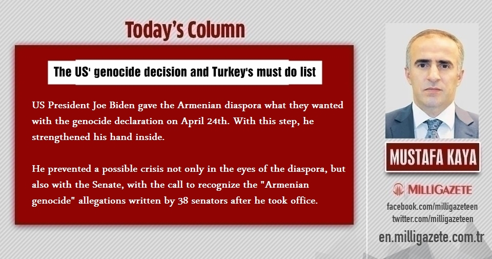 "Mustafa Kaya: ""US genocide decision and Turkeys must do list"""