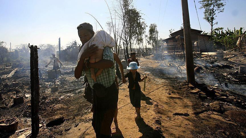 Myanmar militarizing burnt Rohingya villages: Report