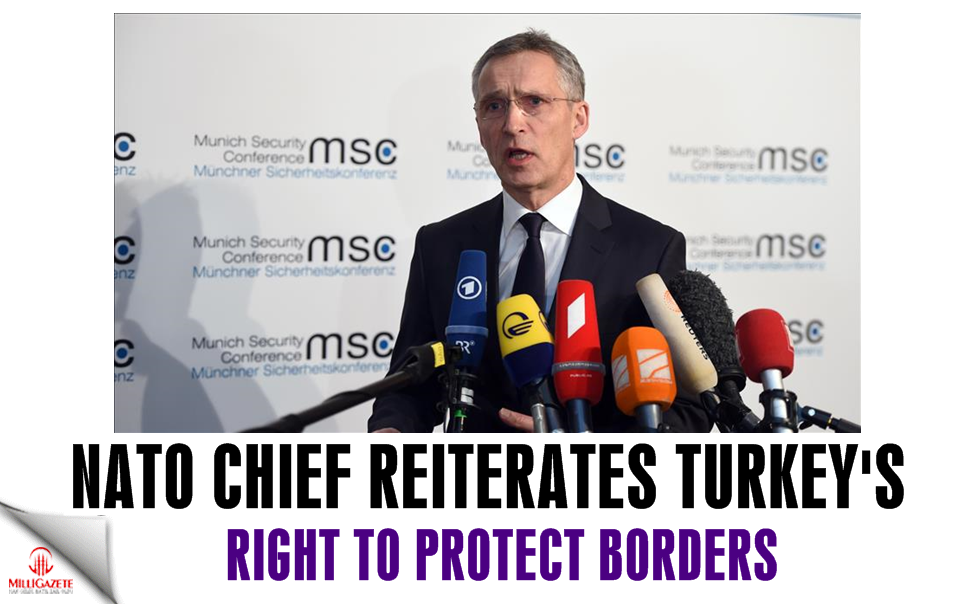 NATO chief reiterates Turkeys right to protect borders