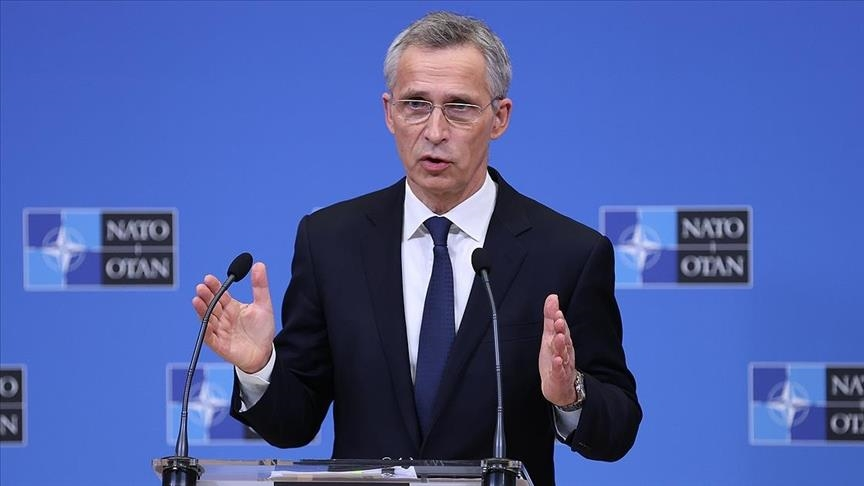 NATO chief urges Russia to withdraw from Ukraines borders