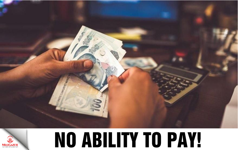 No ability to pay!