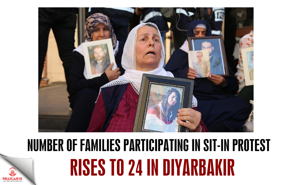 Number of families participating in sit-in protest rises to 24 in Diyarbakir