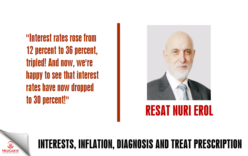"Nuri Erol: ""Interests, inflation, diagnosis and treatment prescription"""