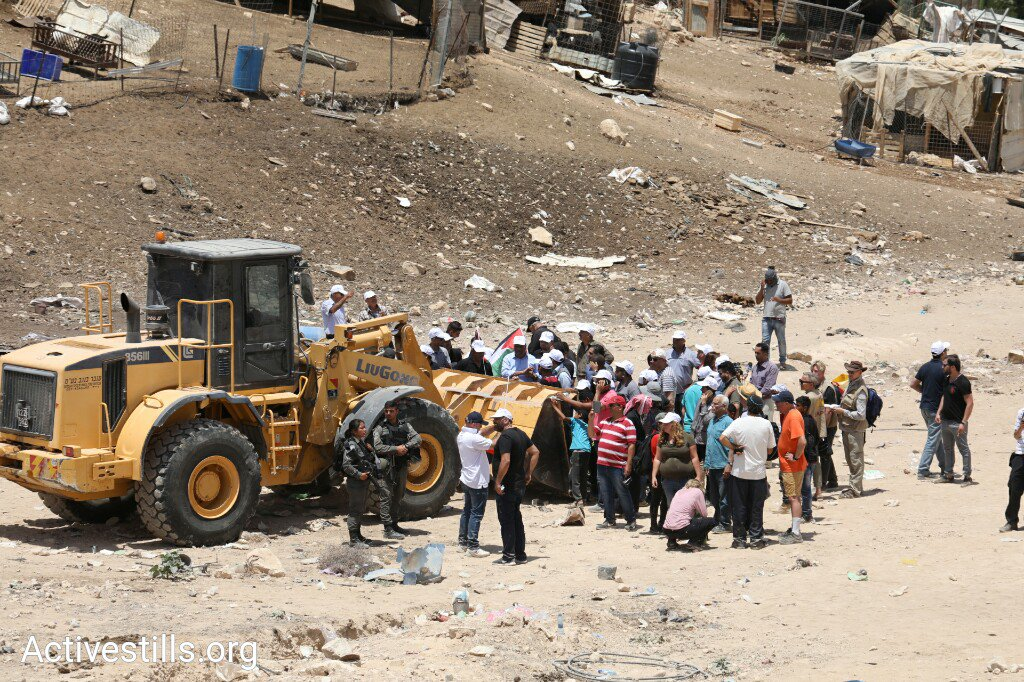 Occupier Israel is destroying the village of Khan al-Ahmar