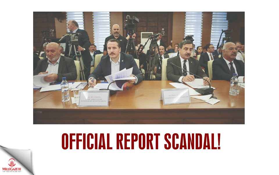 Official report scandal!