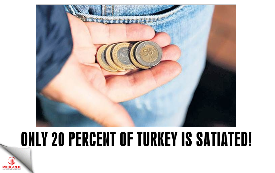 Only 20 percent of Turkey is satiated!