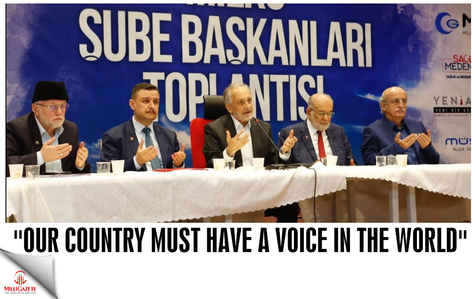 """Our country must have a voice in the world"""