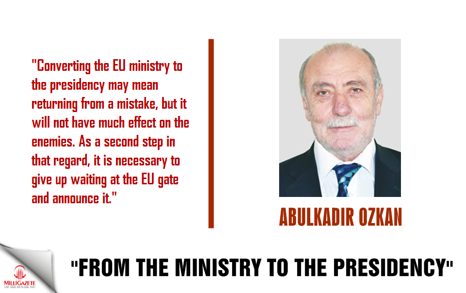 "Ozkan: ""From the Ministry to the Presidency"""