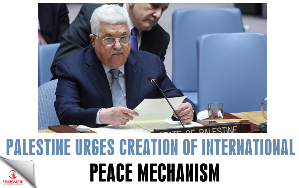 Palestine urges creation of international peace mechanism