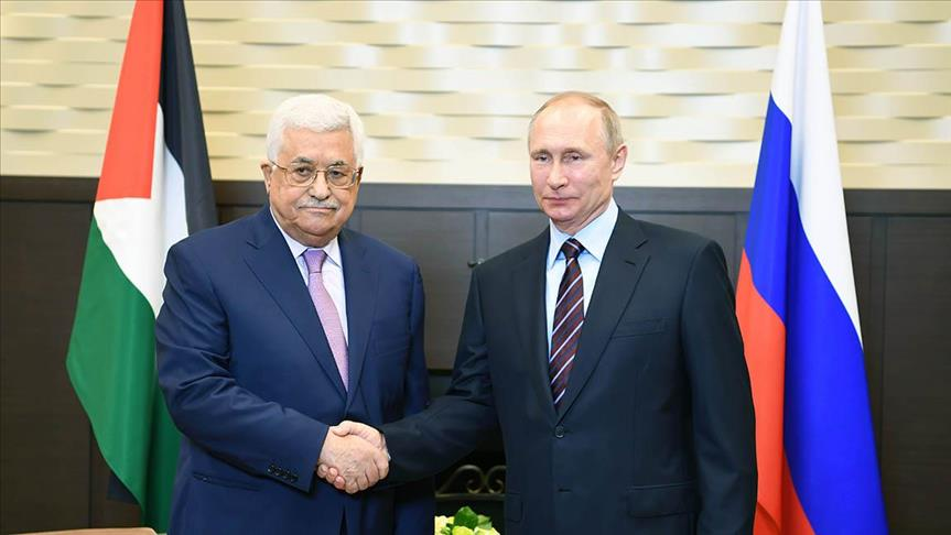 Palestinian, Russian presidents meet in Moscow