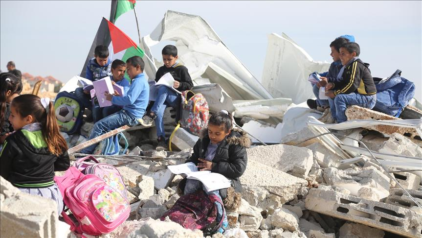 PLO official decries Israel's school demolition policy