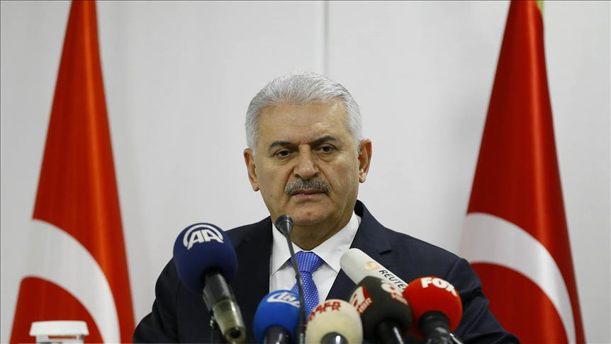 PM Yildirim: 'Our country will overcome these days in unity, solidarity and unshakable determination`