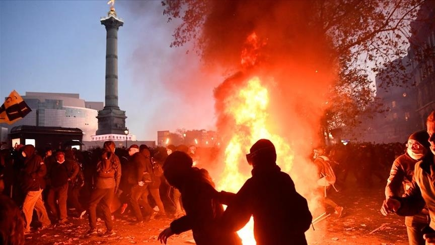 Police brutality protests turn violent in Paris