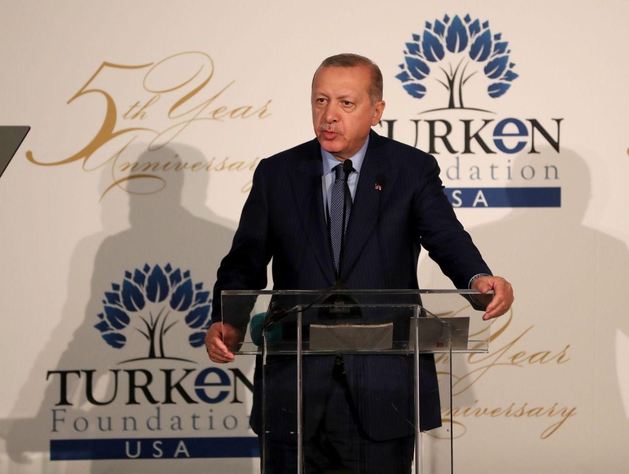 "President Erdogan: ""New human bridges established between the US and Turkey"""
