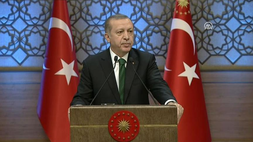 President Erdogan: The US supports terrorist groups