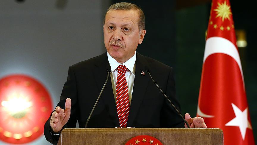 President Erdogan: Turkey to fight against terrorism till end
