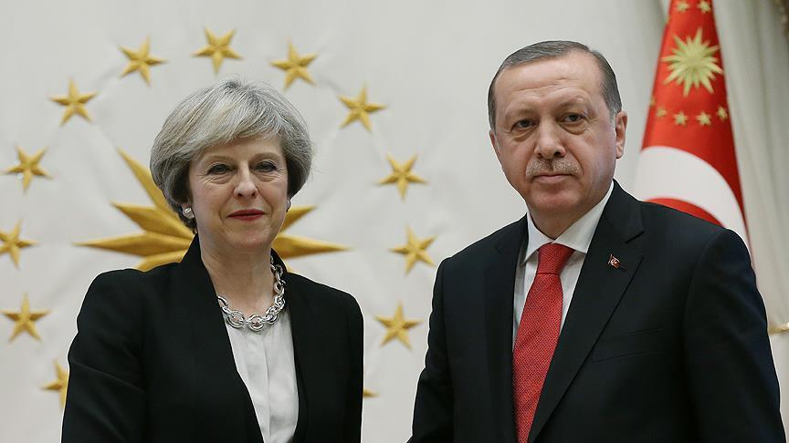 President Erdogan, UK's May discuss Cyprus over phone