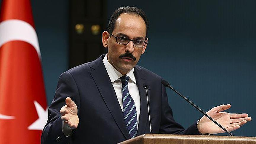 Presidential spokesman Kalin urges power balance in region