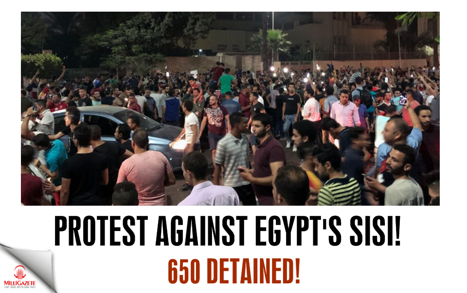 Protest against Egypts Sisi! 650 protesters detained