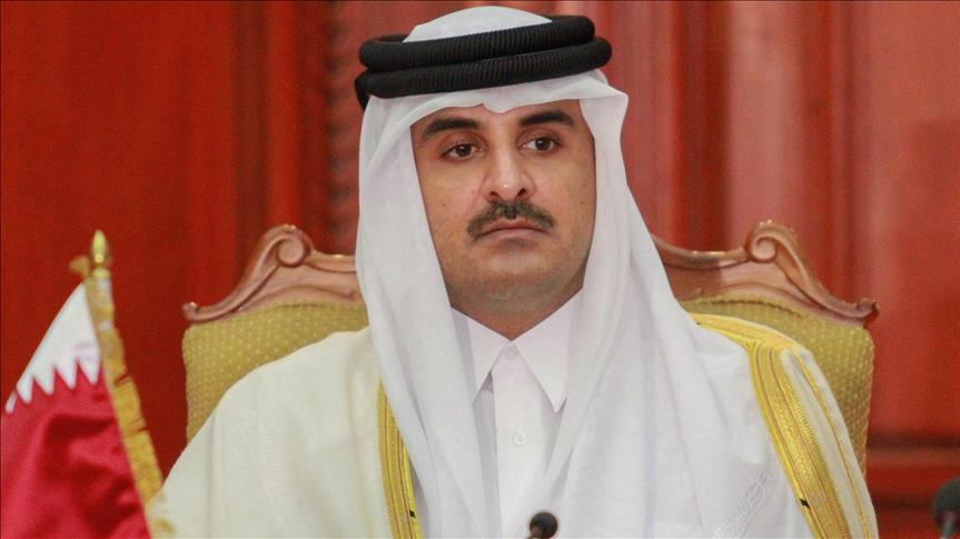 Qatari emir meets Hamas leaders in Doha