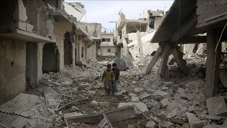 Regime bombing kills at least 20 in Damascus