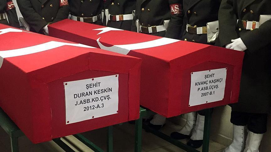 Remains of Turkish soldiers repatriated from Syria