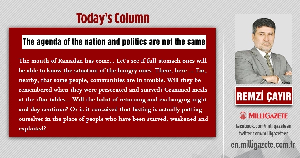 "Remzi Çayır: ""The agenda of the nation and politics are not the same"""