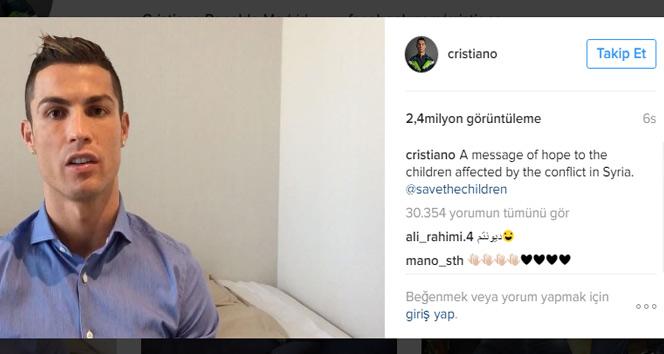 Ronaldo calls Syrian children 'true heroes'