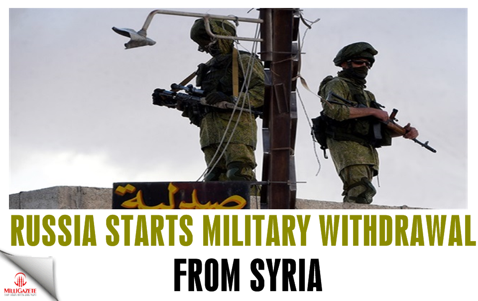 Russia starts military withdrawal from Syria