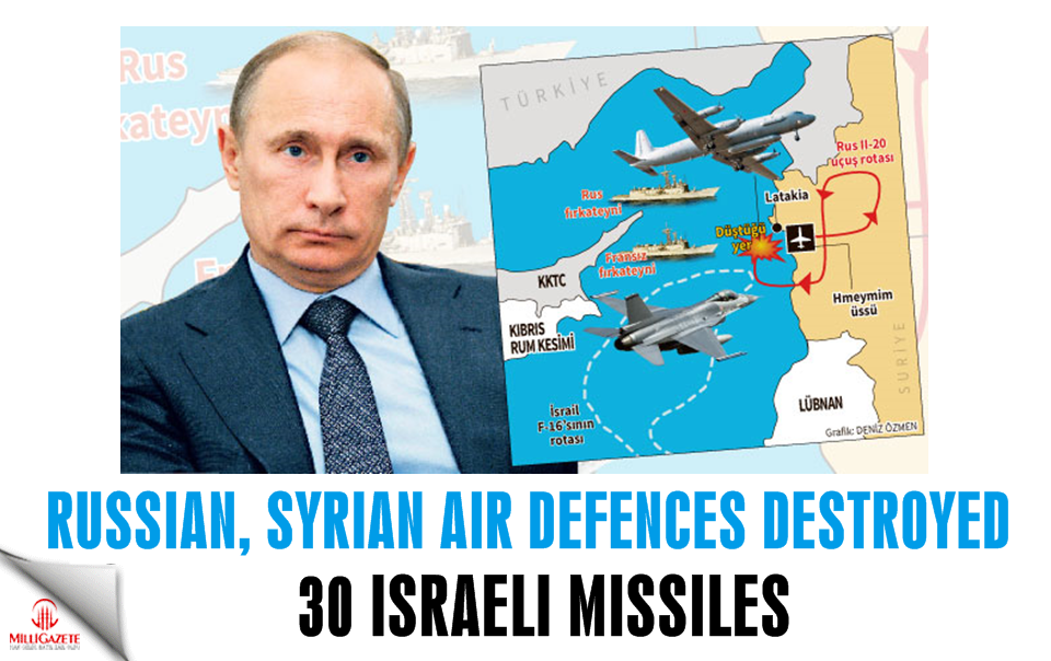 Russian, Syrian air defences destroyed 30 Israeli missiles