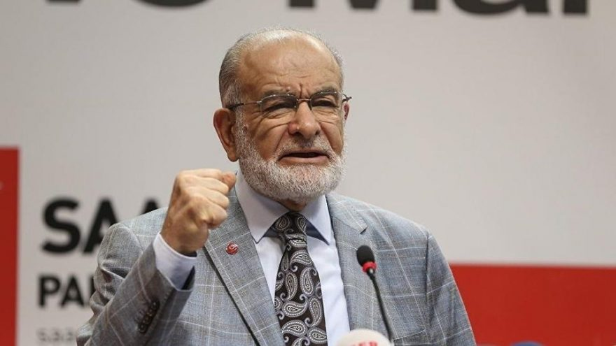 Saadet leader Karamollaoğlu's safe zone criticism