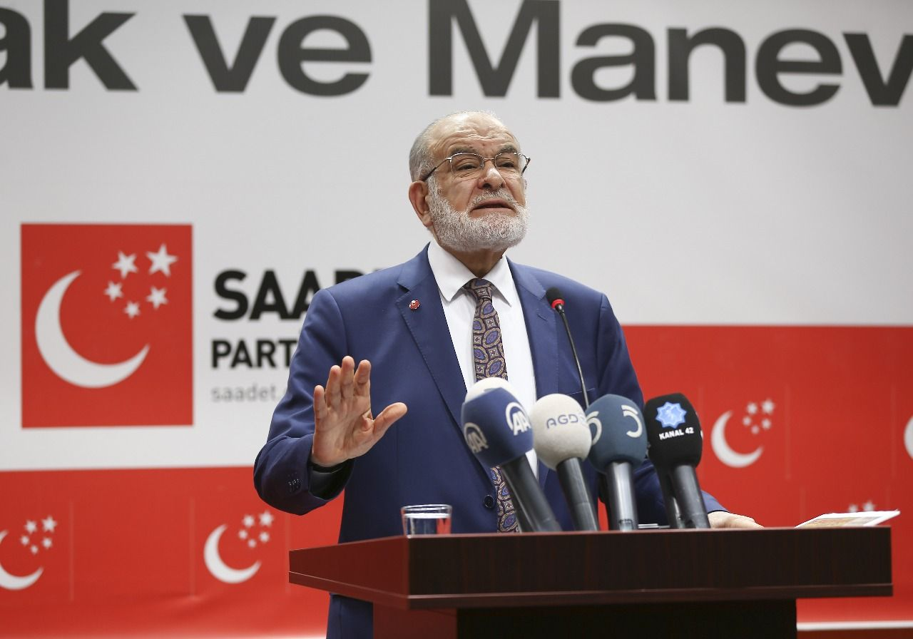 Saadet leader Temel Karamollaoğlu evaluates the election results
