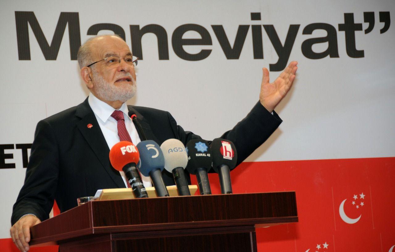 Saadet Party Chairman Temel Karamollaoğlu: