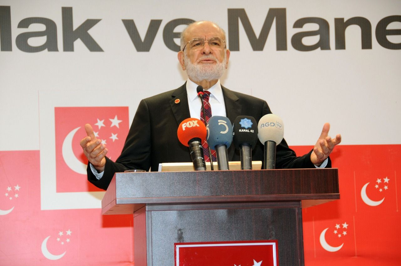 Saadet Party leader Karamollaoğlu spoke at weekly press conference