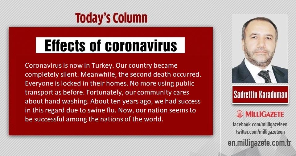 """Sadrettin Karaduman: """"Effects of coronavirus"""""""