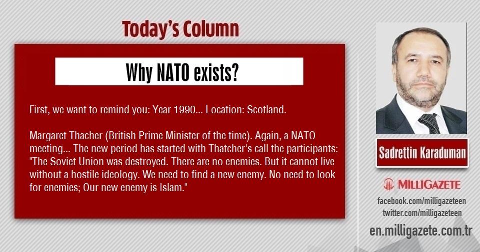 "Sadrettin Karaduman: ""Why NATO exists?"""