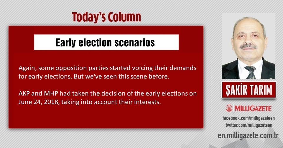 "Şakir Tarım: ""Early election scenarios"""
