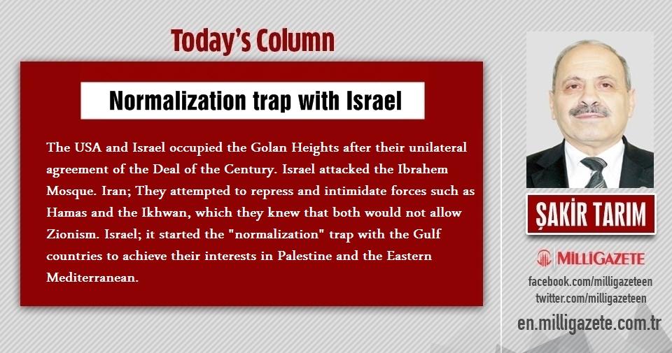 "Şakir Tarım: ""Normalization trap with Israel"""