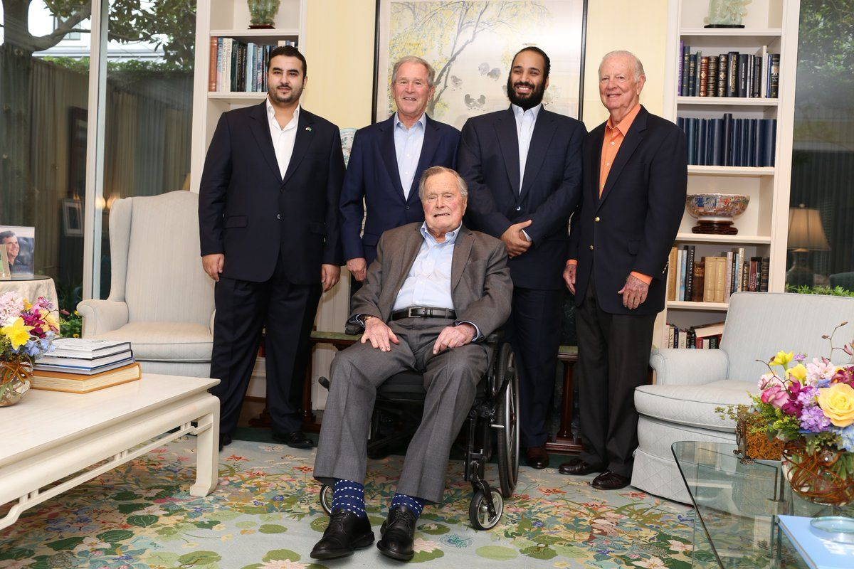 Saudi crown visits Bush family in US