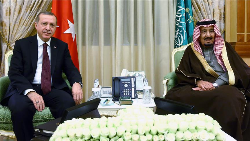 Saudi King Salman welcomes President Erdogan