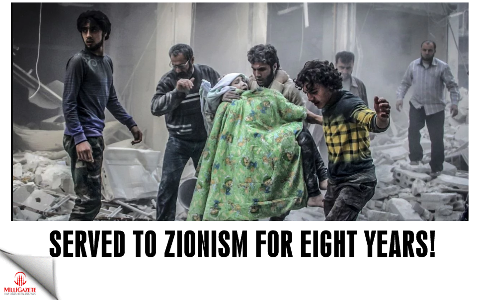 Served to Zionism for eight years!