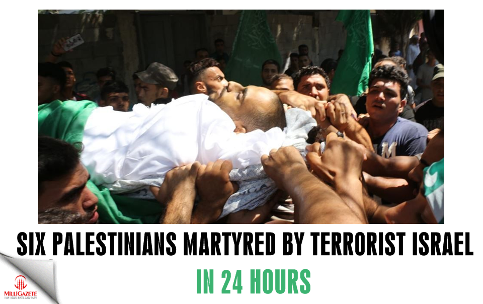 Six Palestinians martyred by terrorist Israel in 24 hours