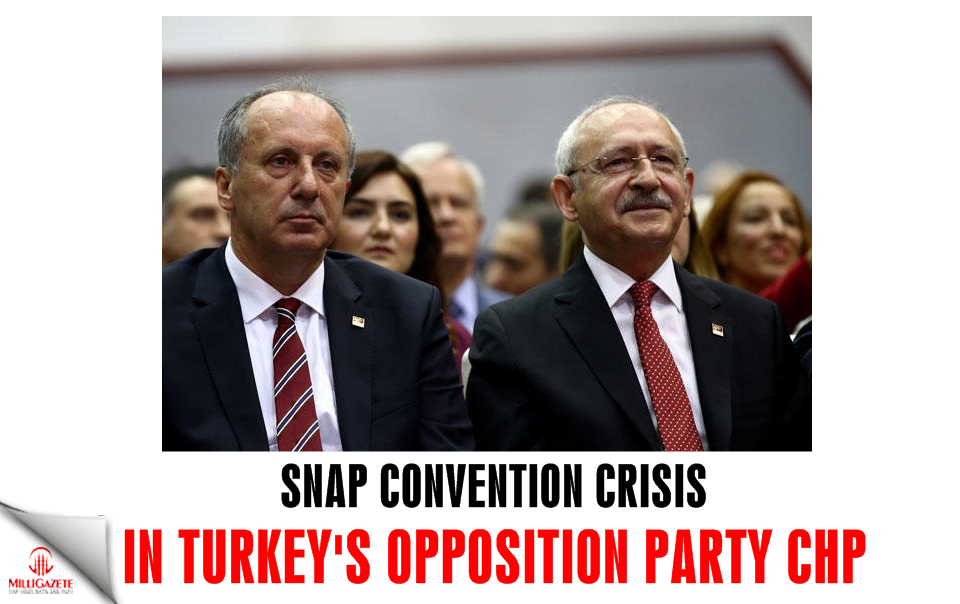Snap convention crisis in Turkeys opposition party CHP