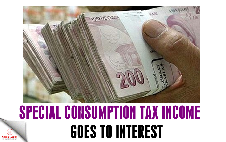 Special Consumption Tax income goes to interest