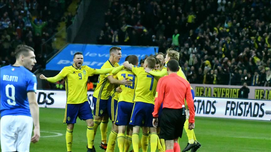 Sweden eliminates Italy to clinch World Cup 2018 berth