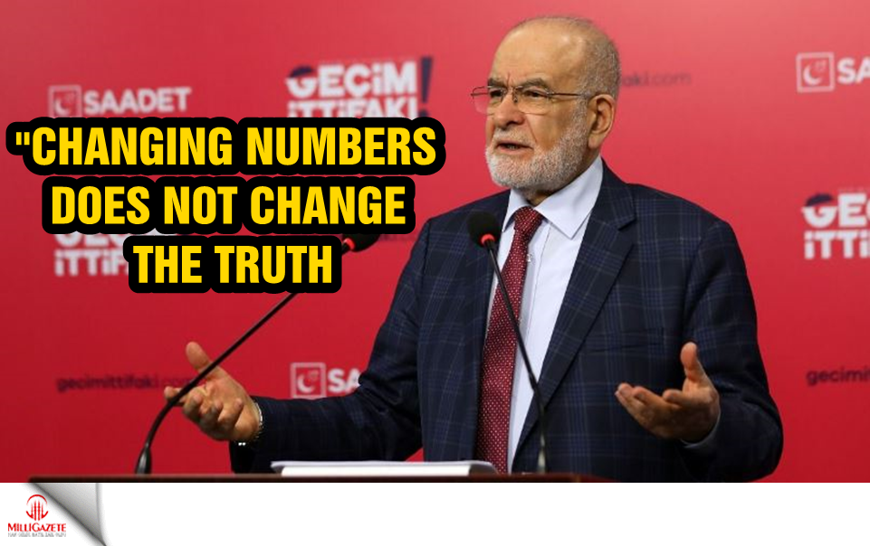 "Temel Karamollaoğlu: ""Changing numbers does not change the truth"""