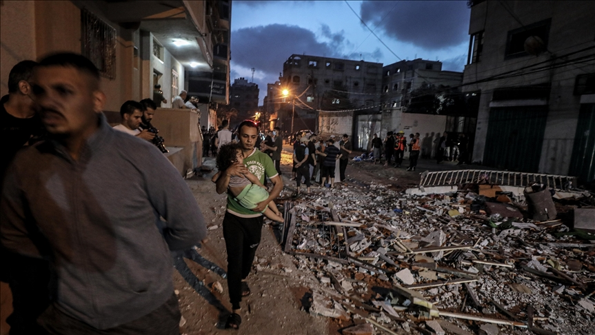 Terror regime Israel attacks Gaza, death toll rises to 26