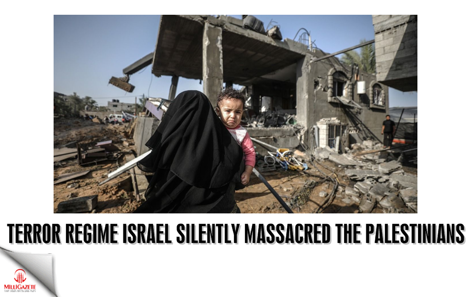 Terror regime Israel silently massacred the Palestinians